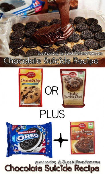 Chocolate Suicide Recipe [Chocolate Chip Cookie & Brownie Mix with Oreos]