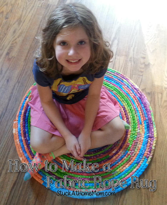 How to Make a Fabric Rope Rug – DIY Rope Rug #diy