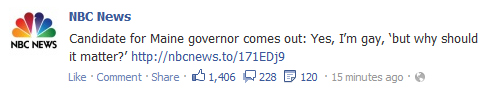 How long can Governor LePage go without making a derogatory remark about Mike Michaud's Gay Status? #LePage #Michaud