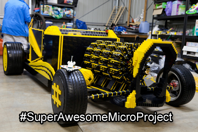 Life Size Lego Car Powered by Air #SuperAwesomeMicroProject