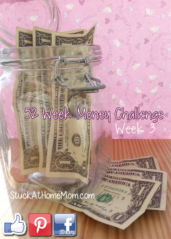 52 Week Money Challenge Week 3 #52weekmoneychallenge