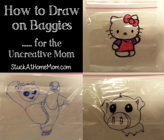 How to Draw on Baggies (For the Un-Creative Mom)