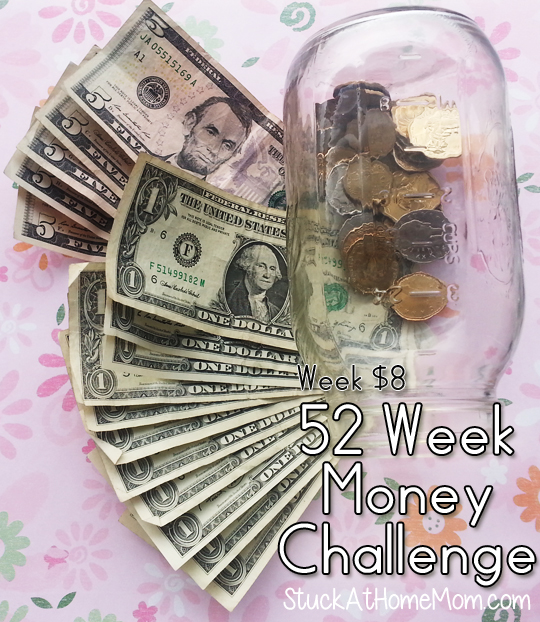 52 Week Money Challenge Week $8 #52weekmoneychallenge