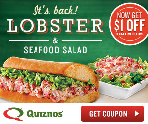 Quiznos Coupon Print 1 Off Lobster Sub