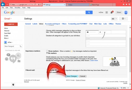 How To Turn Off Tabs In Gmail