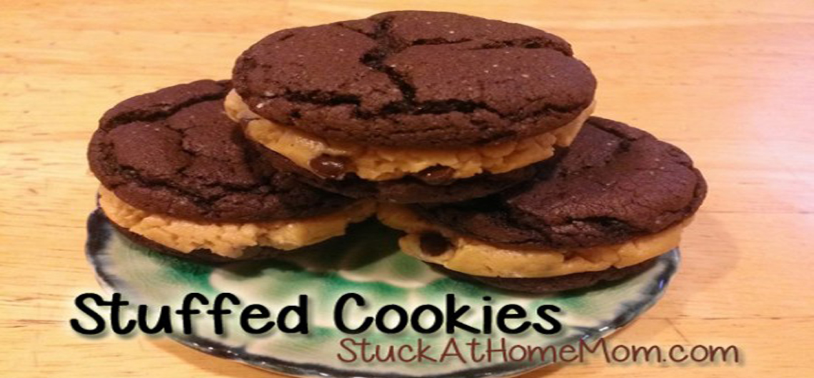 Stuffed Cookie Sandwich #treats