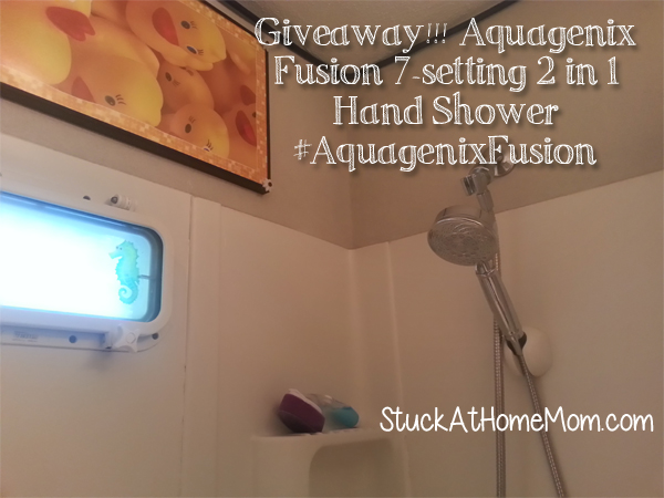 Giveaway!!! Aquagenix® Fusion 7-setting 2 in 1 Hand Shower #AquagenixFusion