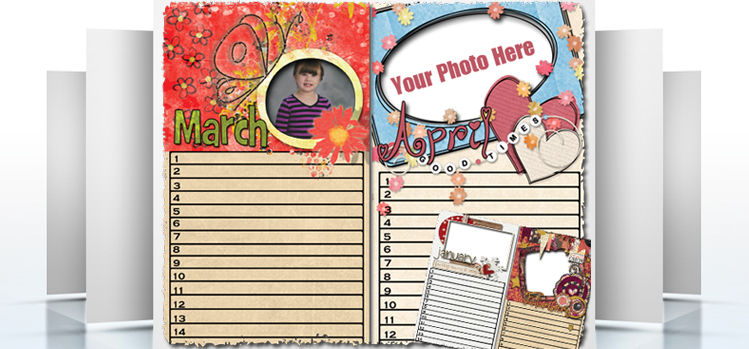 Forever Printable Photo Calendars – March & April