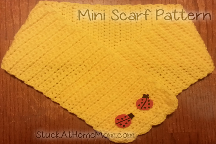 Mini Scarf Pattern (Easy) #Crochet #Pattern #CrochetPattern