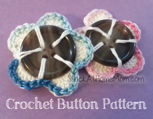 Crochet Button Pattern #crochet #pattern