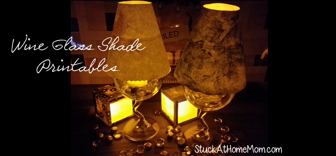 Wine Glass Shades with Flickering LED Tea Lights #tealights