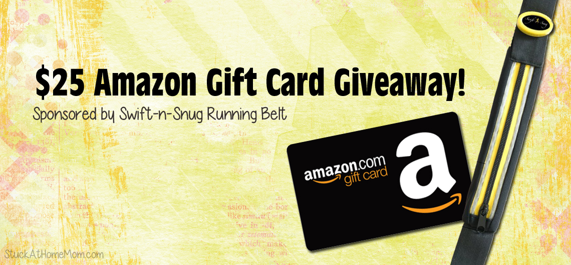 $25 Amazon Gift Card Giveaway! Sponsored by Swift-n-Snug Running Belt