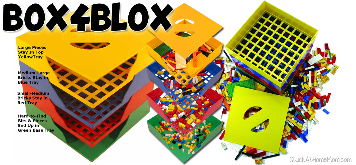 Giveaway! Lego Sorting Storage – save your feet and your vacuum! #box4blox