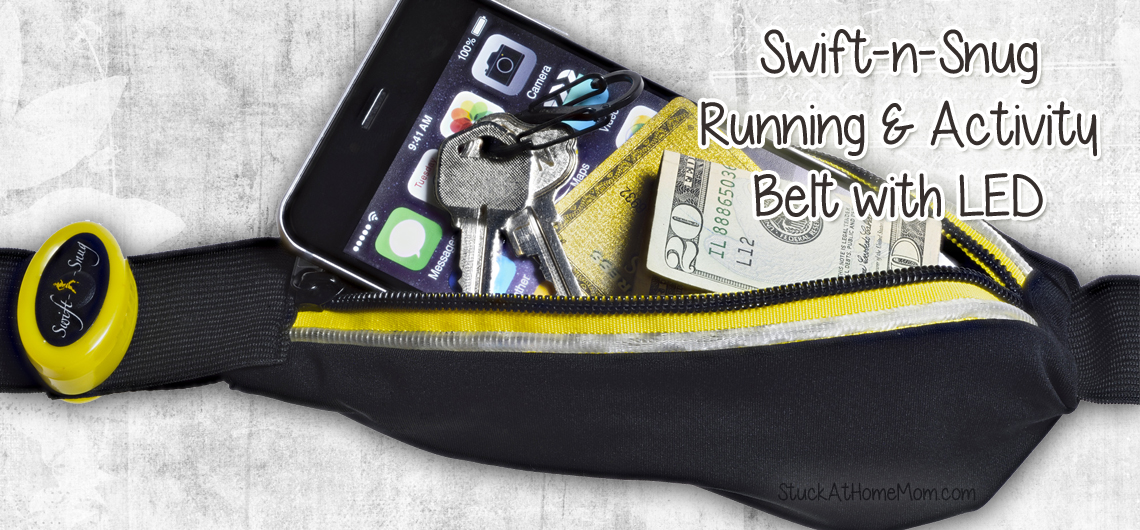 Hands Free and Stuff Stowed - Running Belt with LED Light + Giveaway #runningbelt