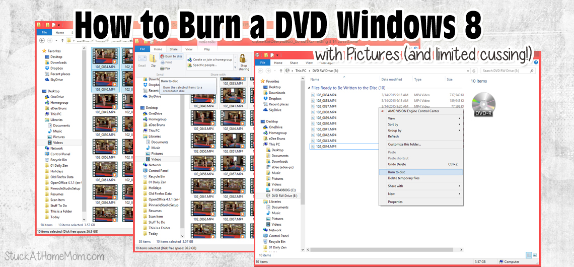 How to Burn a DVD Windows 8