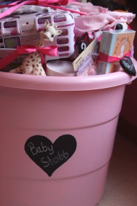 Tub Filled with Gifts