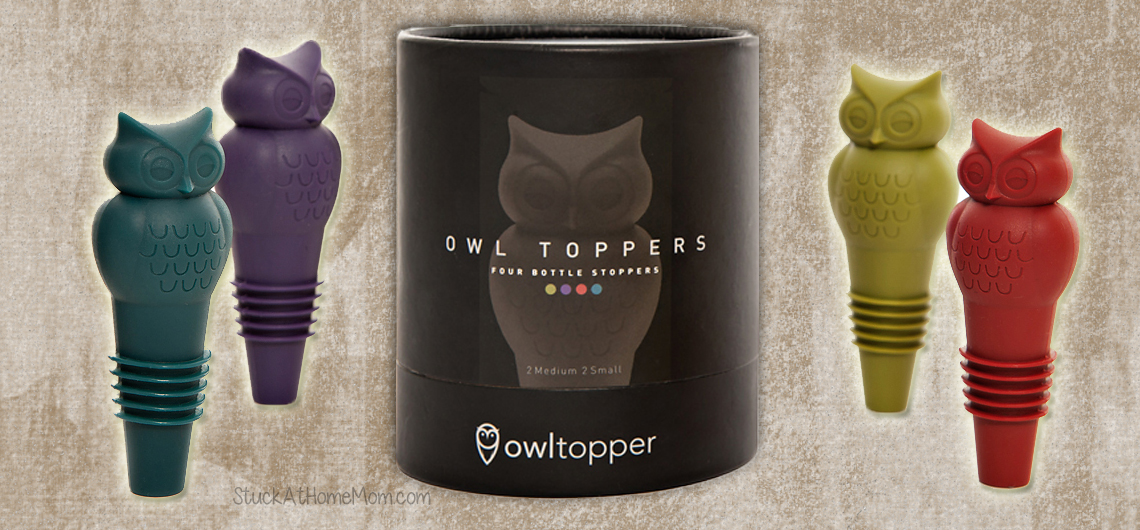 Beautiful Owl Bottle Stoppers + Giveaway #Owltopper