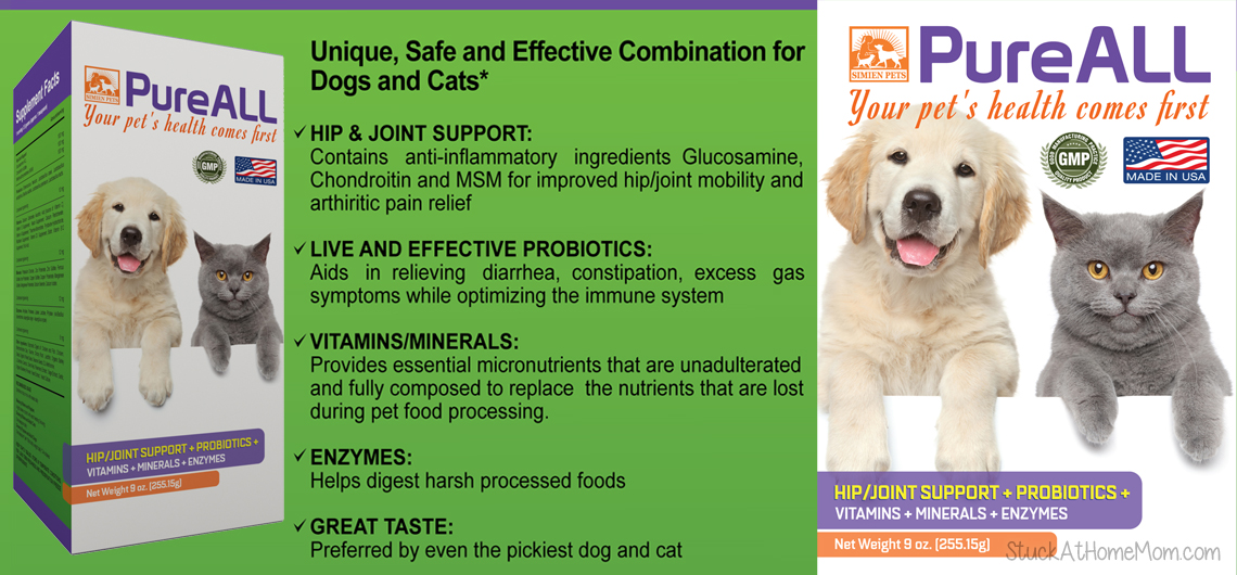 Pet Supplements for Your Fur Baby's Optimal Health #simienpets