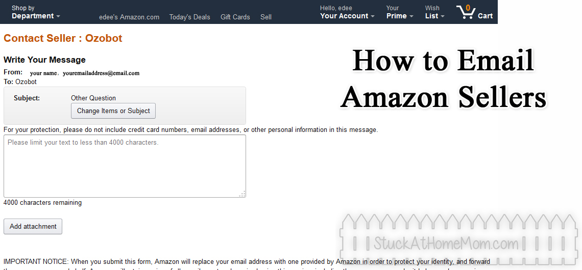 How to Email Seller on Amazon – Before You Buy