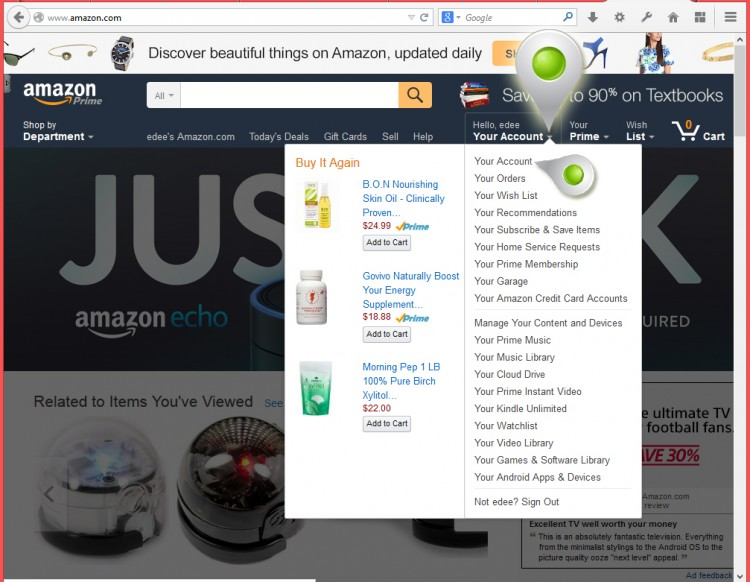 How to find your Amazon Profile Link