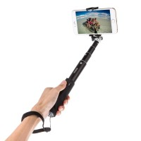 iTECHOR Aluminum Alloy Foldable All-in-one Self-portrait Monopod Extendable Wireless Bluetooth 3.0 Selfie Stick with Adjustable Phone Holder