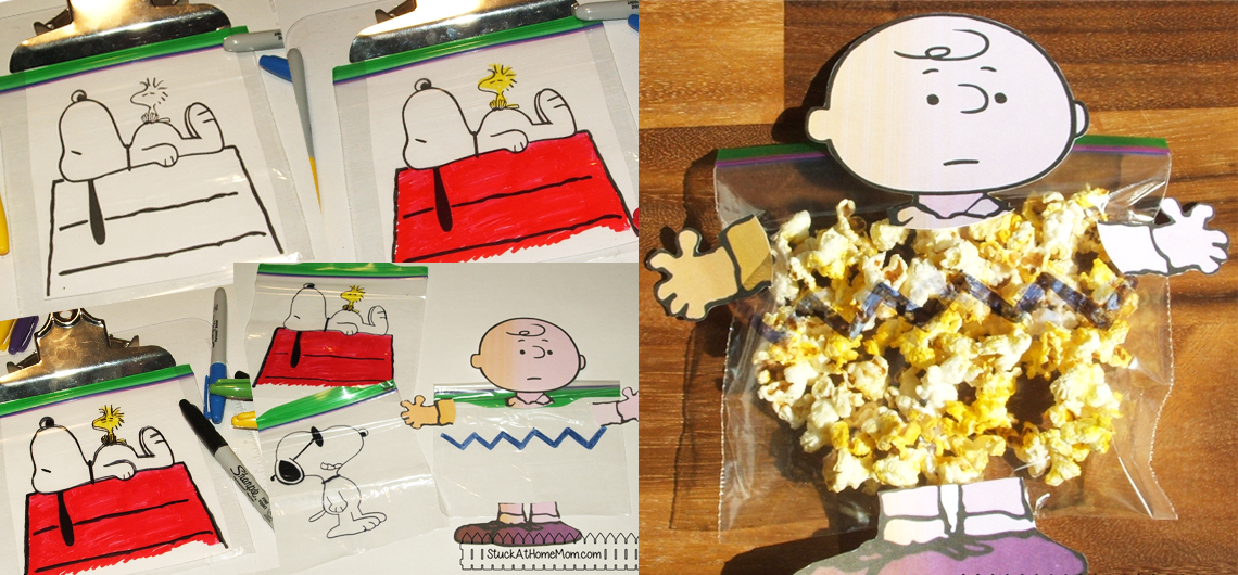 Celebrate the Peanuts Movie with Popcorn (and Peanuts) Treat Bags