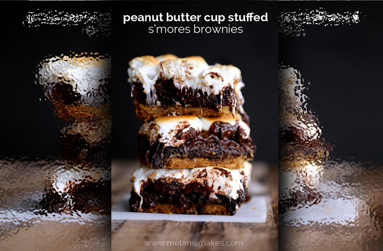 Peanut Butter Cup Stuffed S'mores Brownies