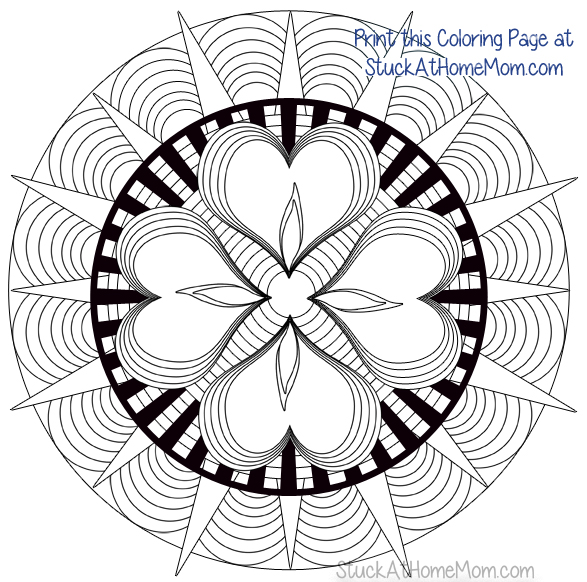 Stuck At Home Mom Coloring Page 1