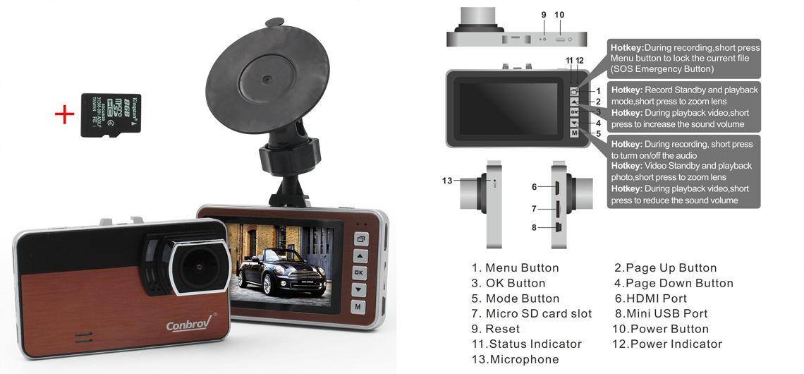 Review: 1080P HD Dash Cam Auto Vehicle Dashboard Driving Recorder DVR WITH FREE 8GB SD Mini Card