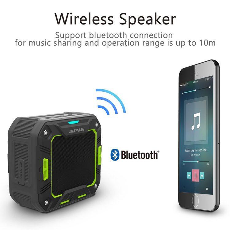 APIE Outdoor Bluetooth Water Resistant Speakers Portable