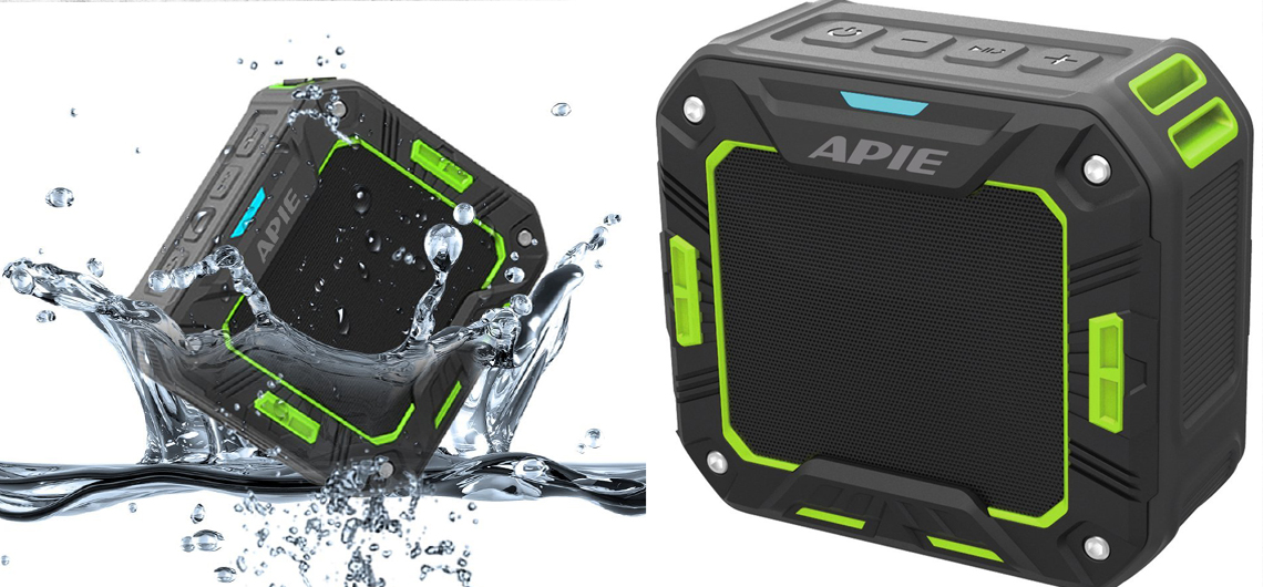 APIE Outdoor Bluetooth Water Resistant Speakers Portable