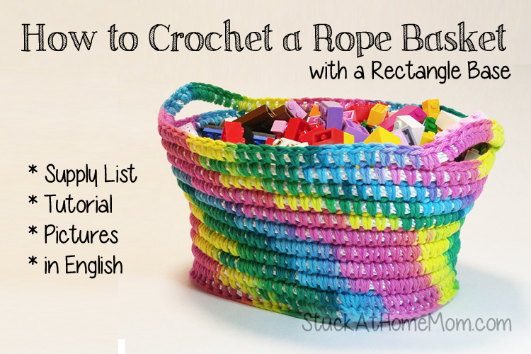 How to Crochet a Rope Basket with a Rectangle Base