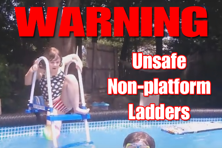 WARNING Intex Unsafe Non-platform Ladders