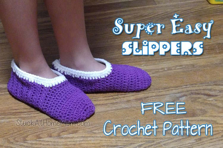 Easiest Crochet Slipper Pattern Ever