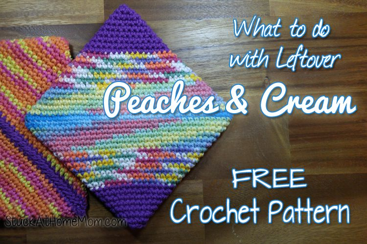 What to do with Leftover Peaches & Cream - Double Layer Potholder Crochet Pattern