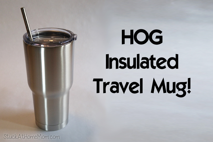 Keep Your Drink Hot or Cold All Day With the HOG Insulated Travel Mug!