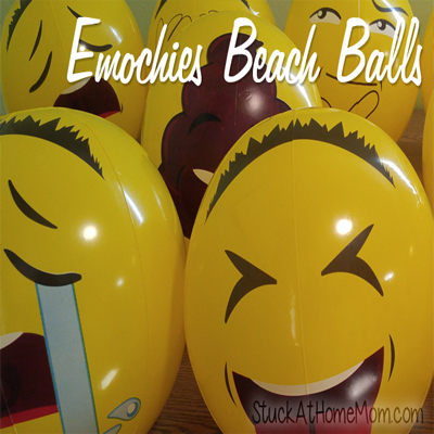 Have a Blast With These Emochies Beach Balls!