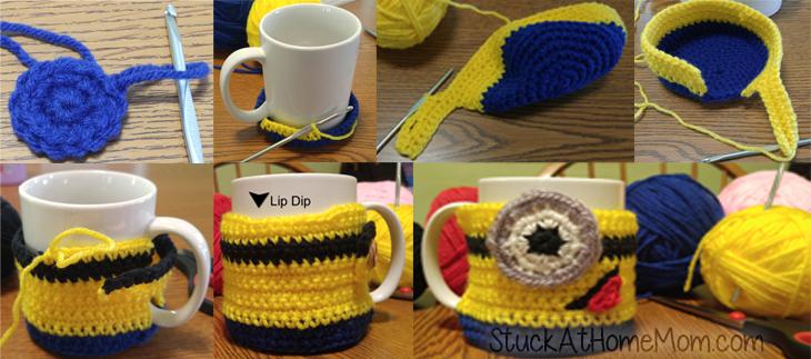 Minion Cup Cozy Crochet Pattern