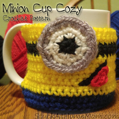 Minion Cup Cozy Crochet Pattern