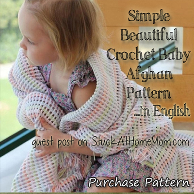 Purchase the Simple Crochet Baby Afghan Pattern