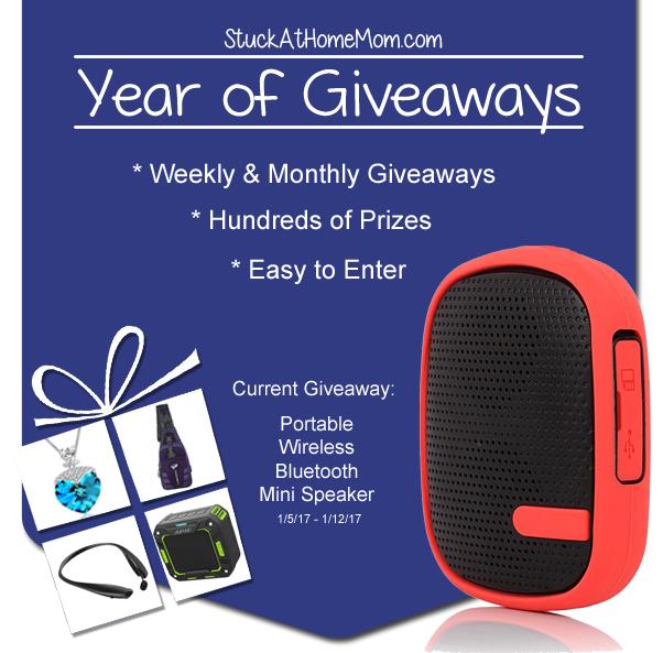 Year of Giveaways Portable Wireless Bluetooth Mini Speaker