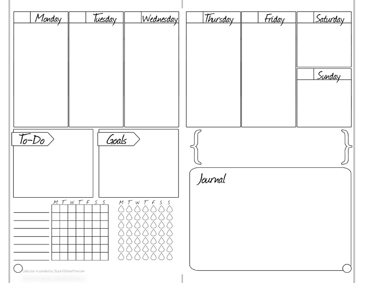 Free Printable Weekly Bullet Journal