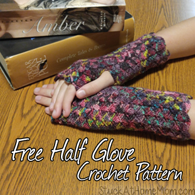 Free Half Glove Crochet Pattern #Gorgeous Half Gloves