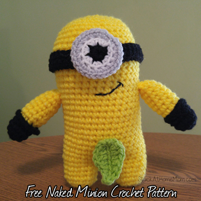 Naked Minion Free Crochet Pattern – Basic #Minion #CrochetPattern