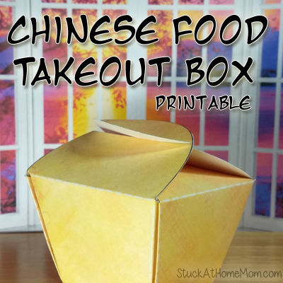 Chinese Food Takeout Box Printable