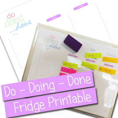 Post-It Note To Do List Fridge Printable – Do, Doing, Done #Printable #PostItNotes