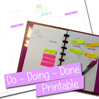 Post-It Note To Do List Journal Printable – Do, Doing, Done #Printable #PostItNotes