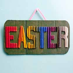 DIY Easter Sign Door Decor