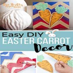 DIY Chevron Carrot Easter Art