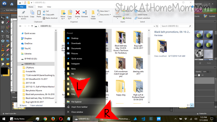 RIGHT click on the folder you have open.